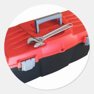 Caja de herramientas pegatinas redondas