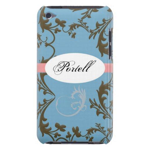 Caja de IPod Barely There del damasco iPod Case-Mate Protector