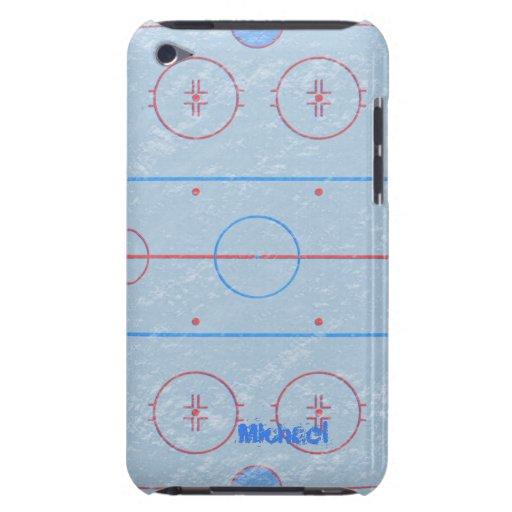 Caja de iPod de la pista de hielo del hockey Barely There iPod Protector