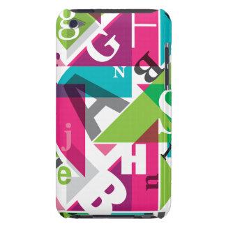 Caja de iPod de la tipografía del diseño de Graohi iPod Touch Funda