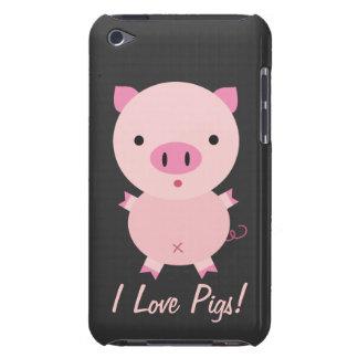 Caja de iPod de los cerdos del amor del personaliz iPod Touch Case-Mate Fundas