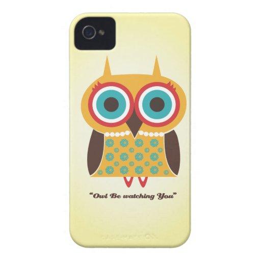 caja de iPod del búho iPhone 4 Case-Mate Carcasas