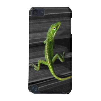 Caja de iPod del lagarto verde