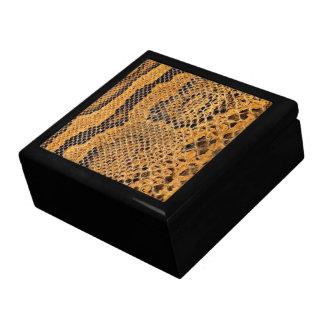 Caja de Jewerly de la impresión de la piel de serp Caja De Recuerdo