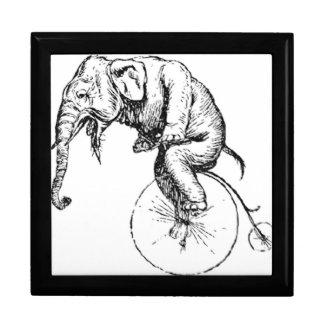 Caja de Jewerly del elefante de la bici que rueda Caja De Regalo