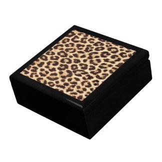 Caja de Jewerly del estampado leopardo Caja De Joyas