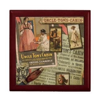 Caja de Jewlery de la cabina de tío Tom del Joyero Cuadrado Grande