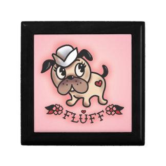 Caja de Jewlery del perro del marinero de Monty de Joyero Cuadrado Pequeño