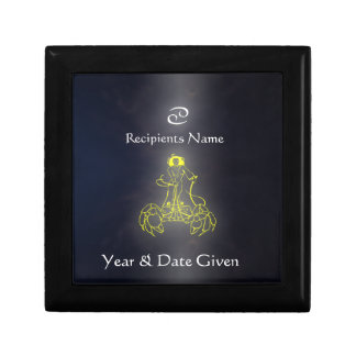 Caja de joyería de la colección del zodiaco del cá cajas de recuerdo