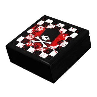 Caja de joyería del cráneo de Emo Cajas De Recuerdo