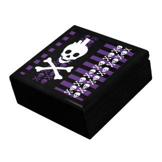 Caja de joyería punky del cráneo de Emo Cajas De Recuerdo