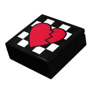 Caja de joyería rota Emo del corazón del amor Cajas De Joyas
