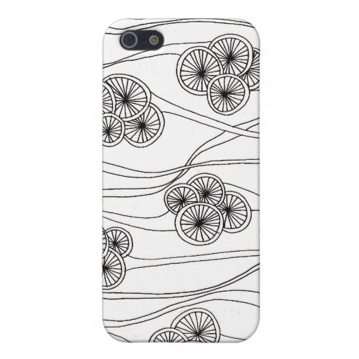 Caja de la ameba (negro y blanco) iPhone 5 cobertura
