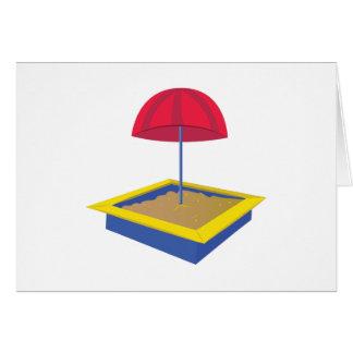 Caja de la arena tarjeta de felicitación