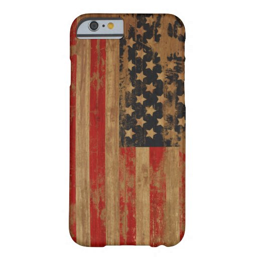 Caja de la bandera americana funda de iPhone 6 barely there