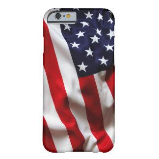 Caja de la bandera americana funda barely there iPhone 6