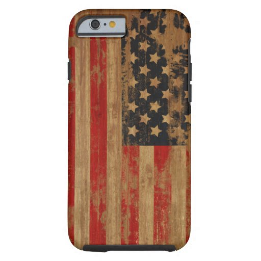 Caja de la bandera americana funda de iPhone 6 tough