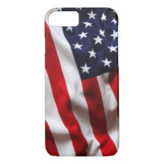 Caja de la bandera americana funda iPhone 7