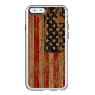 Caja de la bandera americana funda para iPhone 6 plus incipio feather shine