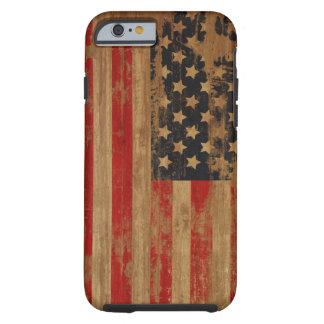 Caja de la bandera americana funda resistente iPhone 6