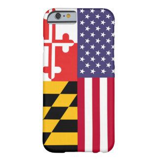 Caja de la bandera de Ameri'Land Funda De iPhone 6 Barely There