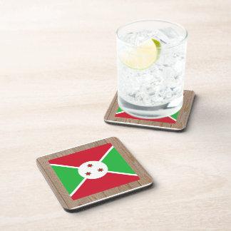 Caja de la bandera de Burundi del diseñador Posavasos De Bebida