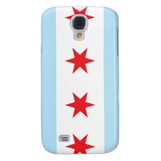 Caja de la bandera de Chicago para HTC vivo Funda Para Galaxy S4