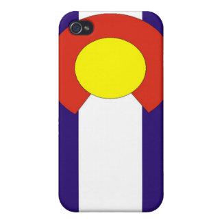 Caja de la bandera de Colorado iPhone 4 Cárcasas