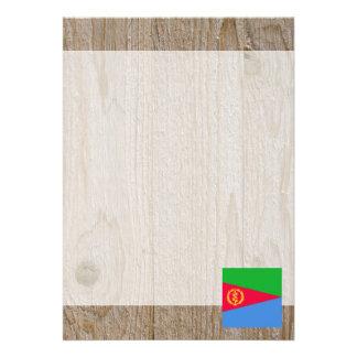 """Caja de la bandera de Eritrea del diseñador Invitación 5"""" X 7"""""""