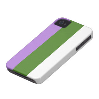 Caja de la bandera de Genderqueer Case-Mate iPhone 4 Carcasa