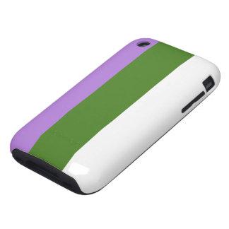 Caja de la bandera de Genderqueer iPhone 3 Tough Cárcasas