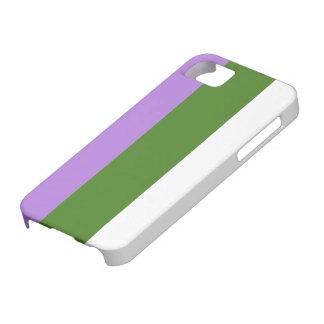 Caja de la bandera de Genderqueer iPhone 5 Carcasas