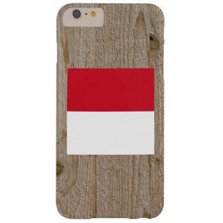 Caja de la bandera de Indonesia del diseñador Funda De iPhone 6 Plus Barely There