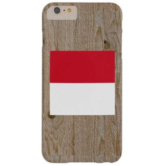 Caja de la bandera de Indonesia del diseñador Funda Para iPhone 6 Plus Barely There