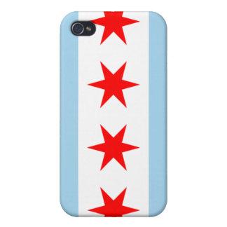 caja de la BANDERA de iPod 4 CHICAGO iPhone 4 Protector