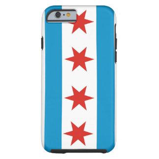 caja de la bandera de la ciudad de Chicago Funda De iPhone 6 Tough
