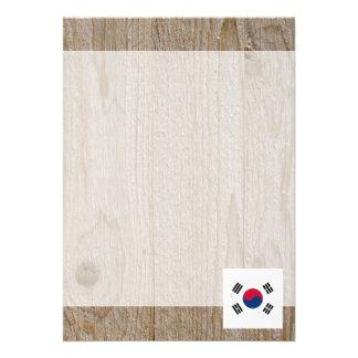 """Caja de la bandera de la Corea del Sur del Invitación 5"""" X 7"""""""
