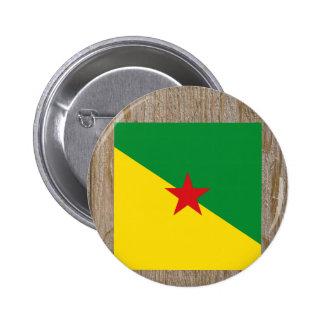 Caja de la bandera de la Guayana Francesa del Pin Redondo 5 Cm