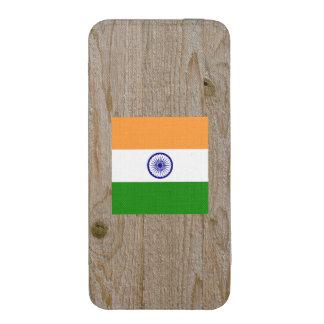 Caja de la bandera de la India del diseñador Bolsillo Para iPhone