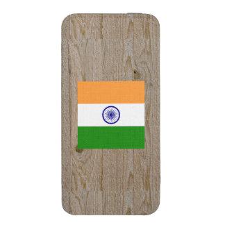 Caja de la bandera de la India del diseñador Funda Acolchada Para iPhone