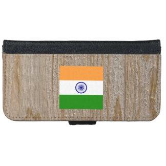 Caja de la bandera de la India del diseñador Funda Cartera Para iPhone 6