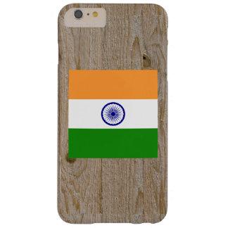 Caja de la bandera de la India del diseñador Funda De iPhone 6 Plus Barely There