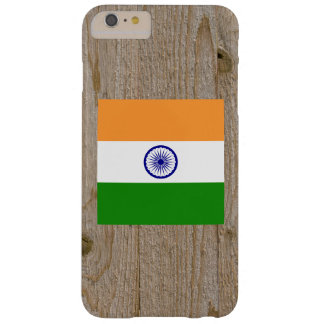 Caja de la bandera de la India del diseñador Funda Para iPhone 6 Plus Barely There