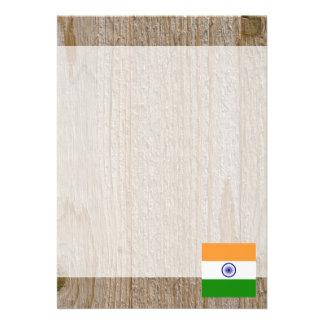 """Caja de la bandera de la India del diseñador Invitación 5"""" X 7"""""""