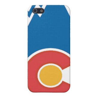 Caja de la bandera de la montaña de Colorado iPhone 5 Funda