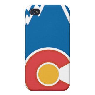 Caja de la bandera de la montaña de Colorado iPhone 4 Cárcasas