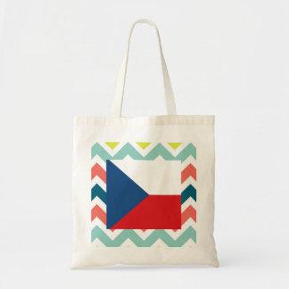 Caja de la bandera de la República Checa en Bolsa Tela Barata