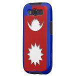 Caja de la bandera de Nepal para el teléfono andro Samsung Galaxy S3 Coberturas