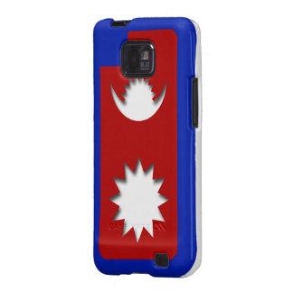 Caja de la bandera de Nepal para el teléfono Samsung Galaxy S2 Fundas