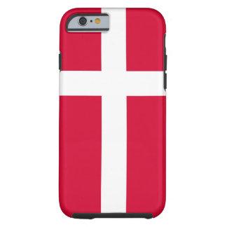 caja de la bandera de país de Dinamarca Funda De iPhone 6 Tough